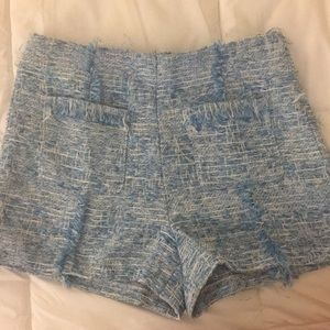 Lucy Paris High Waisted Tweed Shorts